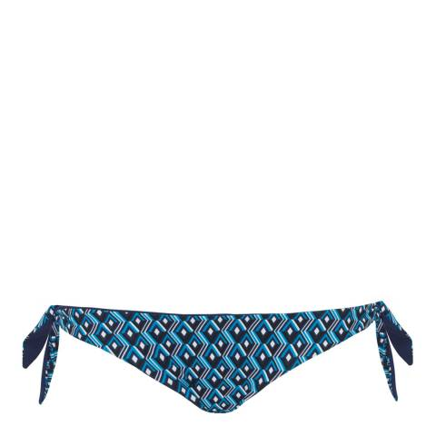 Curvy Kate Blue Wanderlust Reversible Tie Side Brief