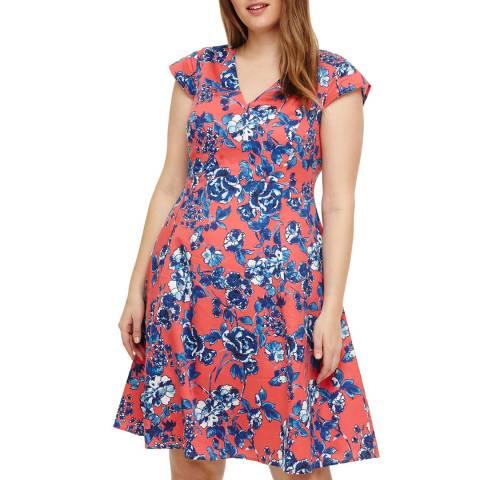 Studio 8 Coral/Multi Martelle Dress