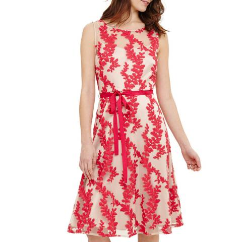 Phase Eight Adele Dress Hot Pink/Nude