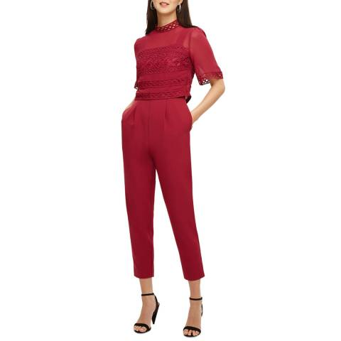 Phase Eight Bright Red Ilia Jumpsuit