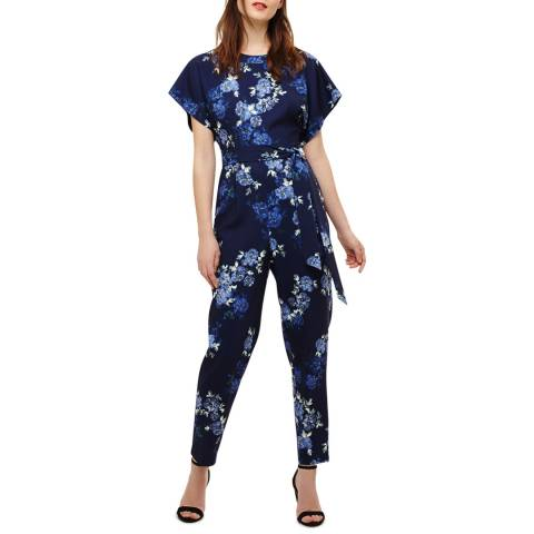 Phase Eight Navy Berry Jumpsuit