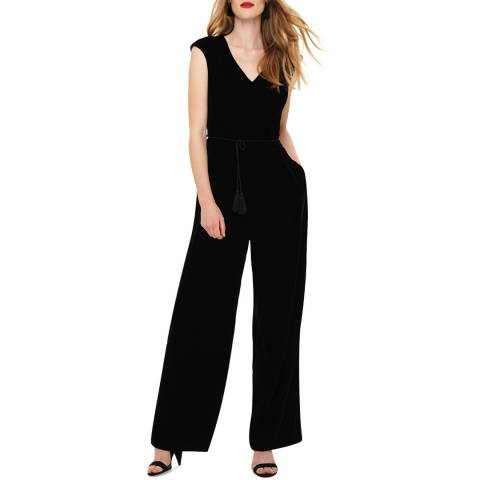 Phase Eight Black Adelaide Velvet Jumpsuit