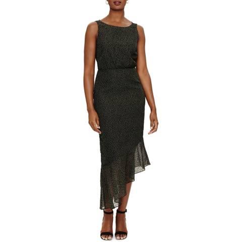 Phase Eight Black Dotty Burnout Dress