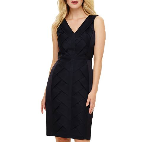 Phase Eight Navy Carley Weave Dress