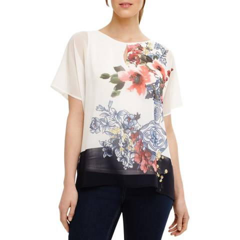 Phase Eight Ivory/Multi Tamara Floral Blouse