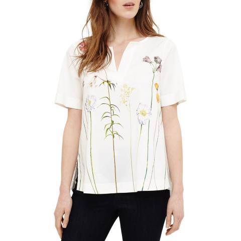 Phase Eight Ivory Erinn Floral Blouse