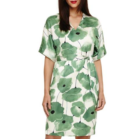 Phase Eight Green/Off White Dee Floral Dress
