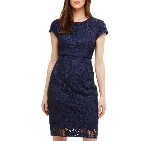 Phase Eight Navy Anna Leah Lace Dress