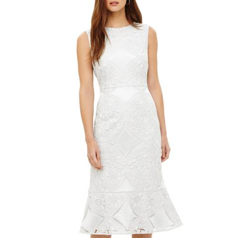 Phase Eight Cream Jemime Lace Dress