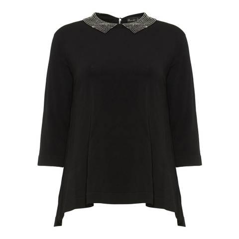 Phase Eight Black Eliora Knit Top