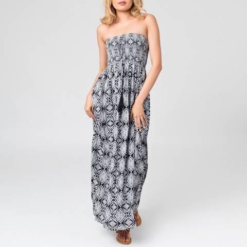 Pia Rossini Navy Patras Maxi Dress