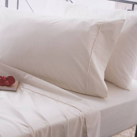 Belledorm Egyptian Cotton King Deep Fitted Sheet, Ivory