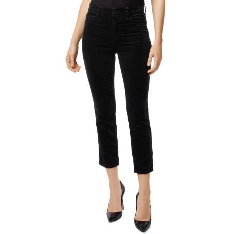J Brand Black Velveteen Cigarette Stretch Jeans