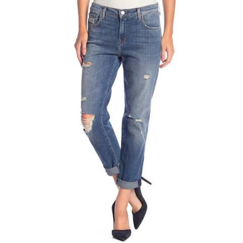 J Brand Blue Johnny Boyfriend Jeans