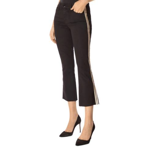 J Brand Black Selena Stripe Stretch Jeans