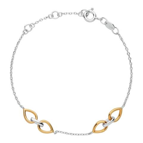 Links of London Sterling Silver & 18kt Yellow Gold Vermeil Flare Bracelet