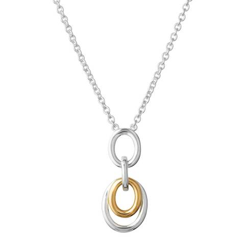 Links of London Sterling Silver & 18kt Yellow Gold Vermeil Linked Oval Necklace