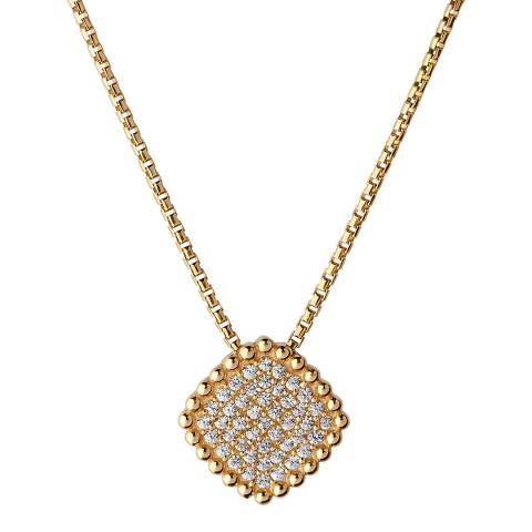 Links of London 18K Yellow Gold Vermeil Pure Square Necklace