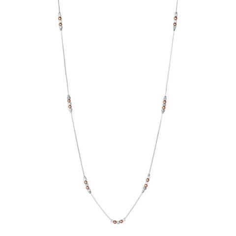 Links of London Sterling Silver & 18kt Rose Gold Vermeil Cubist Necklace
