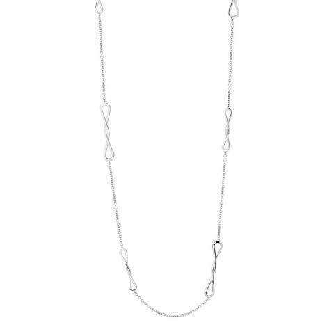 Links of London Sterling Silver Bow Long Necklace