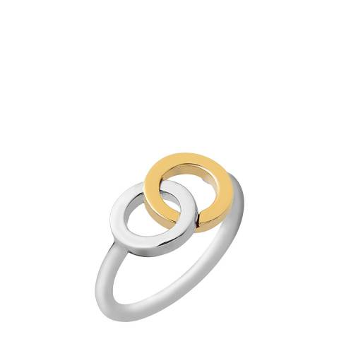 Links of London Sterling Silver & 18kt Yellow Gold Vermeil Linked Ring