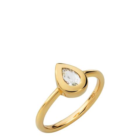 Links of London 18kt Yellow Gold Vermeil Teardrop Ring