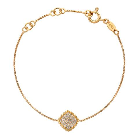 Links of London 18K Yellow Gold Vermeil Pure Square Bracelet