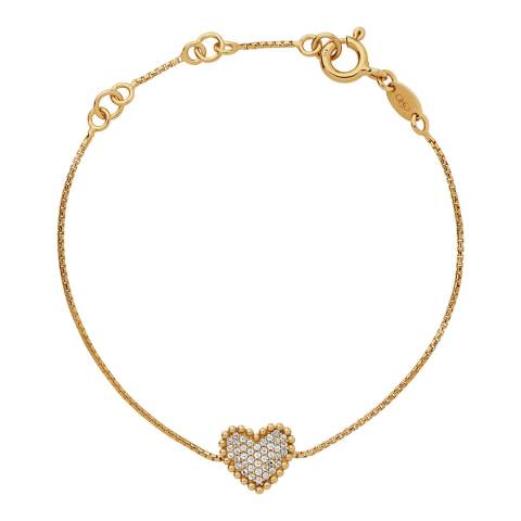 Links of London 18K Yellow Gold Vermeil Pure Heart Bracelet
