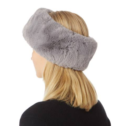 JayLey Collection Grey Faux Fur Headband