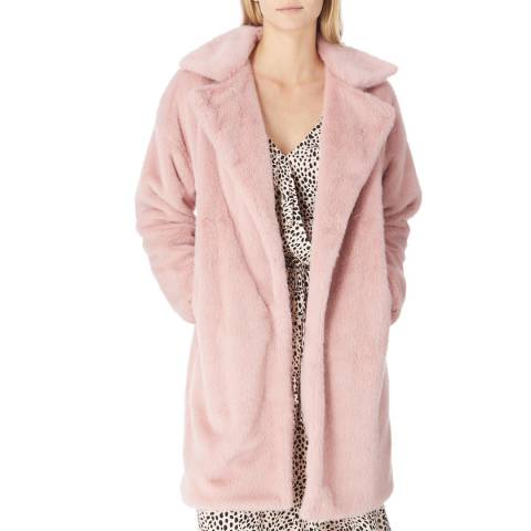 JayLey Collection Pink Faux Fur Long Coat