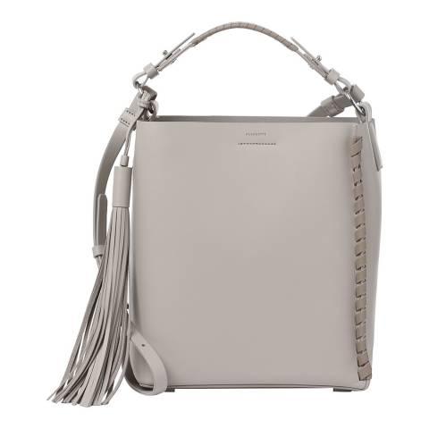 AllSaints Taupe Grey Kepi Shoulder Bag