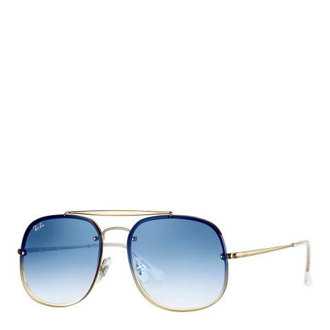 Ray-Ban Unisex Gold/Blue Aviator Sunglasses 58mm