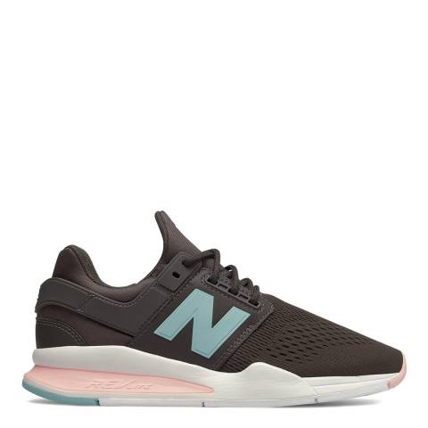 New Balance Grey & Pink 247 Sneakers