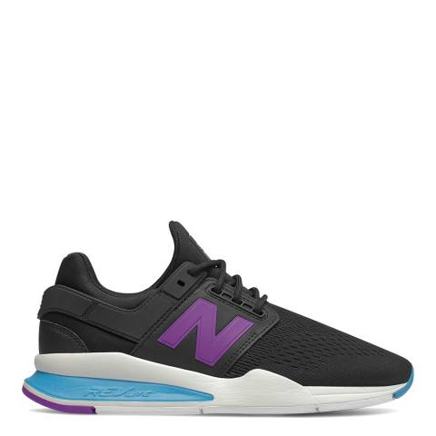 New Balance Black & Purple 247 Sneakers