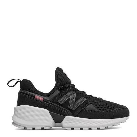 New Balance Black & White 574 Sport Sneakers