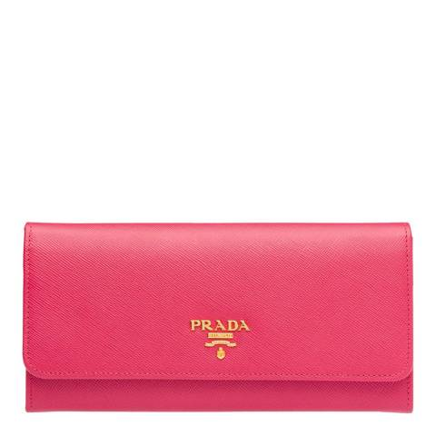 Prada Pink Prada Leather Wallet