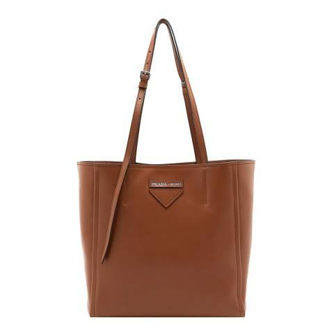 Prada Brown Prada Leather Tote Bag