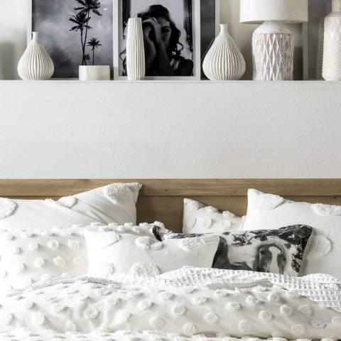 Linen House Haze Pair of Housewife Pillowcases, White