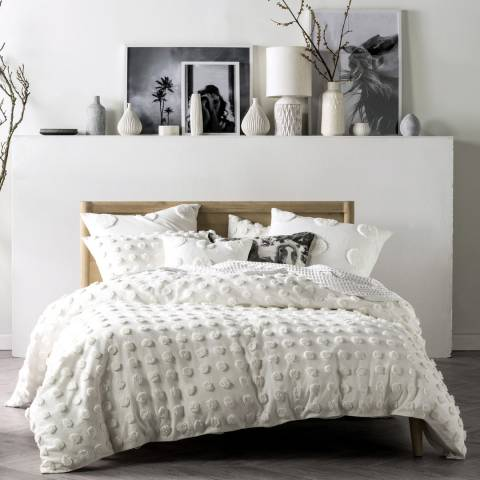 Linen House Haze Super King Duvet Cover Set, White