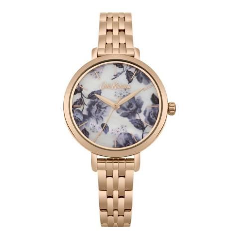Cath Kidston Floral Dial & Gold Bracelet Watch