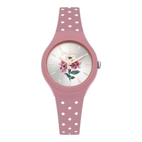 Cath Kidston Mauve Pink Polka Dot Strap Watch