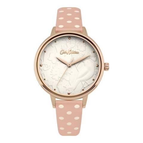 Cath Kidston Pink Polka Dot Strap Watch