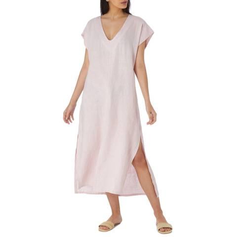 Laycuna London Baby Pink Linen Uni Dress