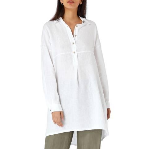 Laycuna London White Linen Tunic Shirt