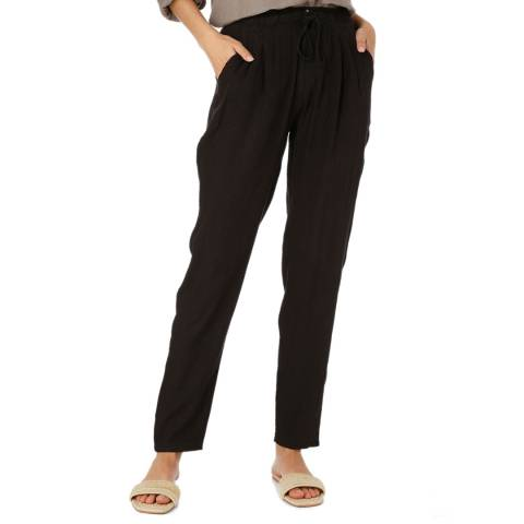 Laycuna London Black Linen Trousers