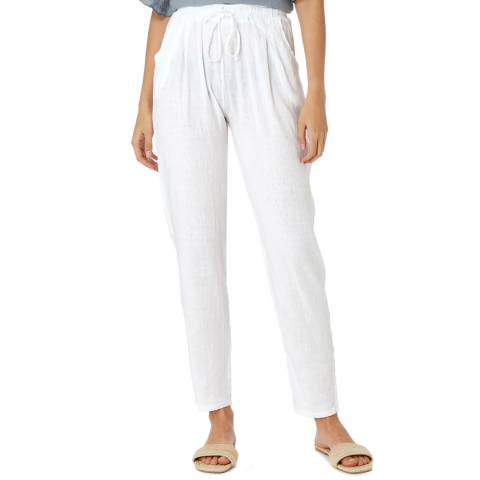 Laycuna London White Linen Trousers