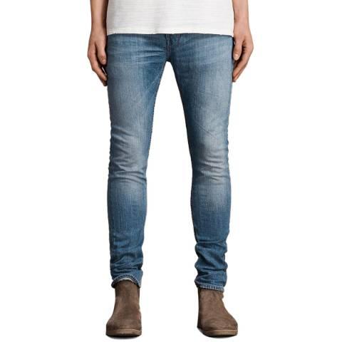 AllSaints Blue Inkom Skinny Jeans