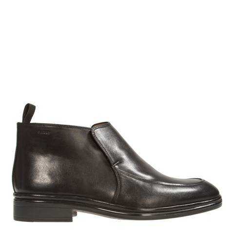 BALLY Black Leather Nebik Demi Boot