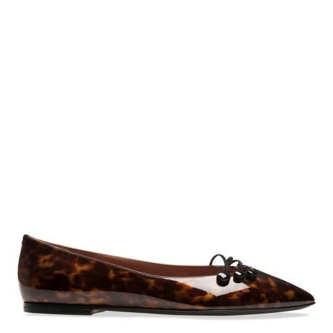 BALLY Dark Tan Leopard Merian Pump