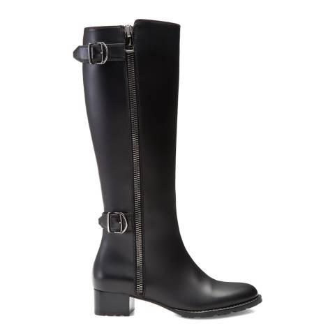 BALLY Black Leather Halette Riding Boot